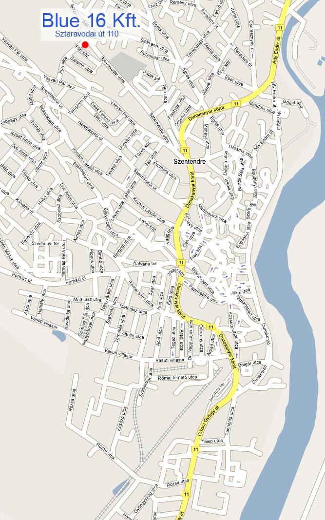szentendre térkép BLUE 16 Kft.   Szentendre térkép szentendre térkép